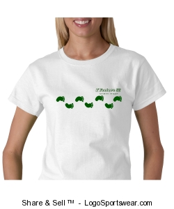Ladies' Walk-about t-shirt in white Design Zoom