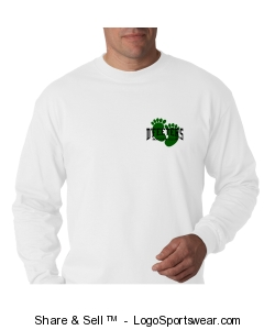 "Adult ""I ?? Soccer"" l/s t-shirt in white Design Zoom"